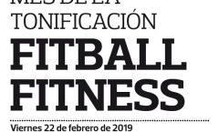 22 FEBRERO: FITBALL FITNESS EN LOS 'VIERNES ACTIVOS'