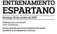 20 OCT: ENTRENAMIENTO ESPARTANO EN LOS 'DOMINGOS DEPORTIVOS'