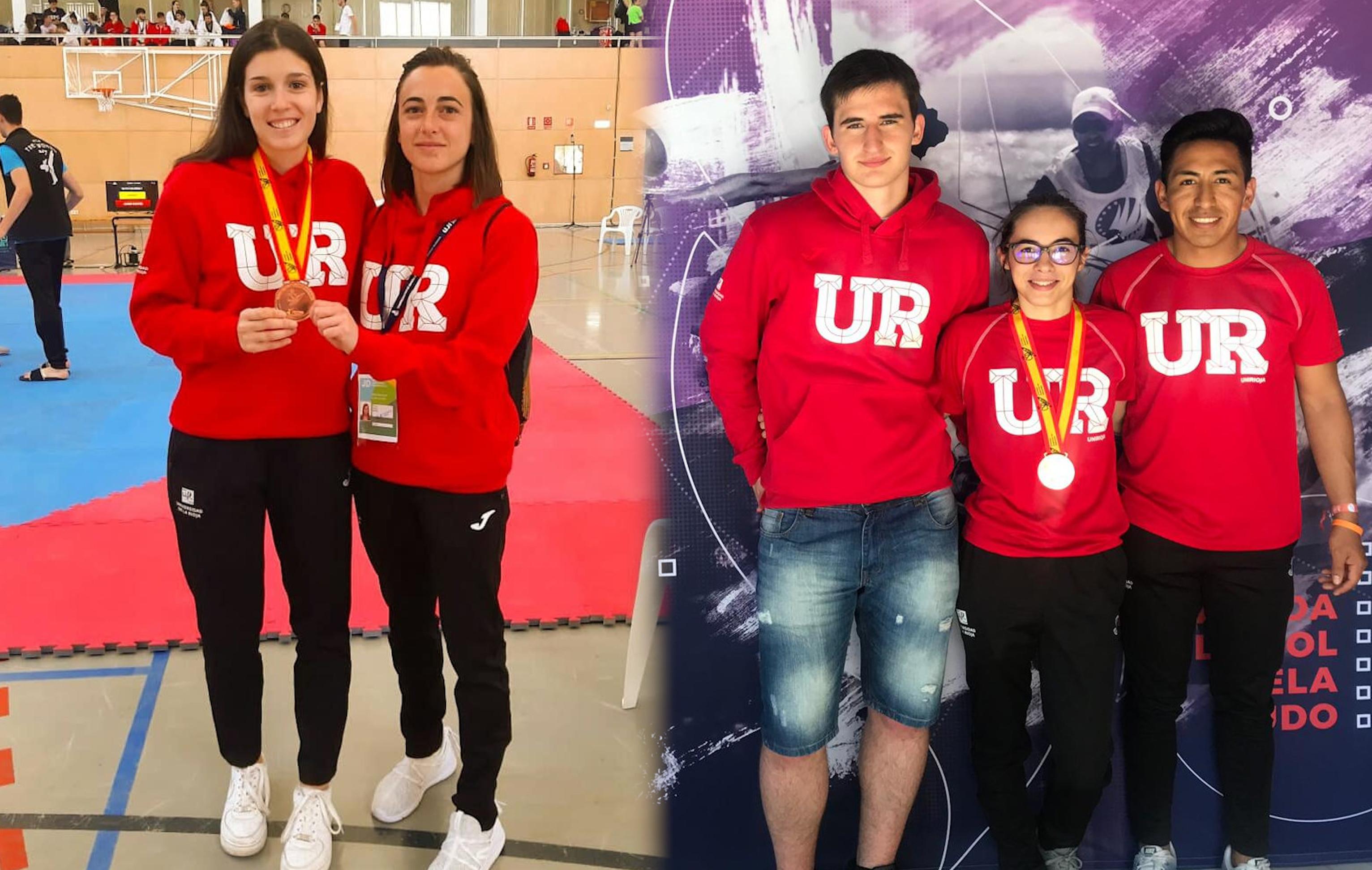[Hemeroteca Deportes UR] Medallas de Lucía Villoslada y Paula Vicente